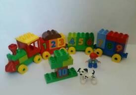 Lego duplo train toy - Counting educational bricks