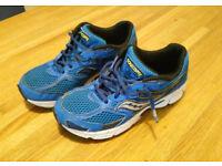blue Saucony trainers, size 3 (36EU)