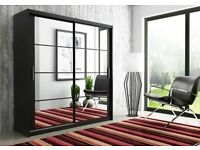 **7-DAY MONEY BACK GUARANTEE!** - Dexter Sliding Door German Wardrobe - RRP£499!