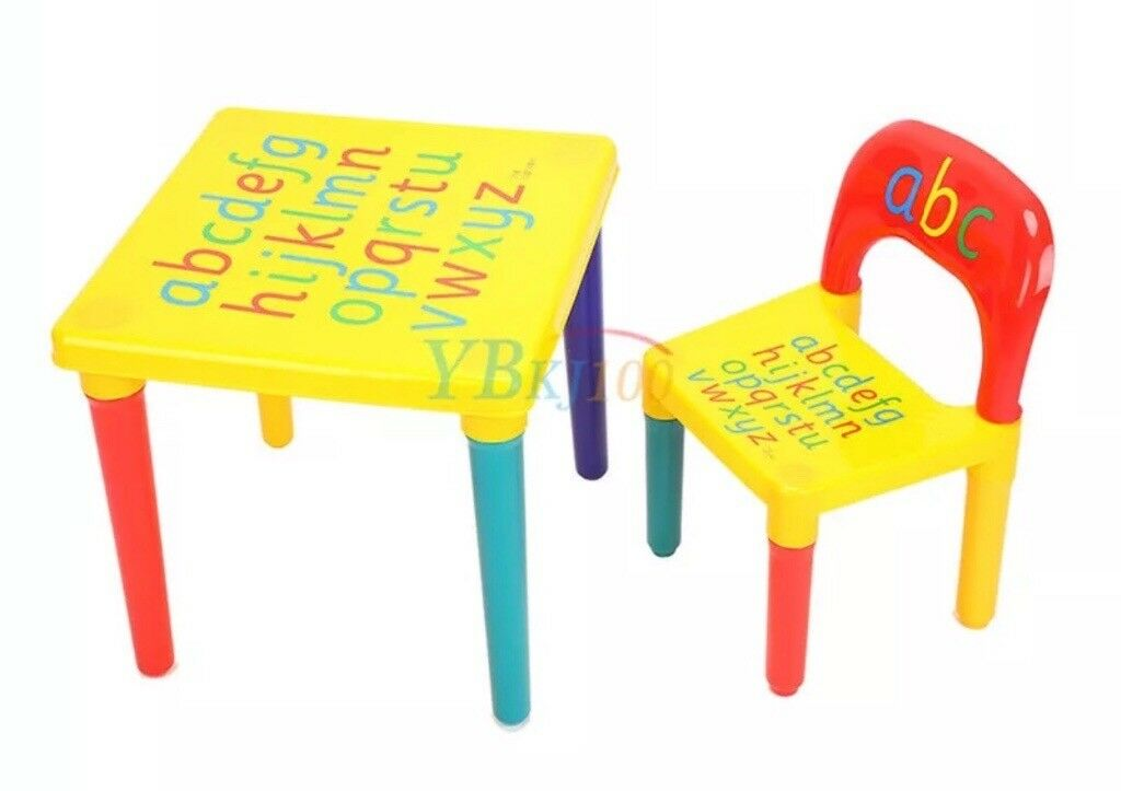 Kids Alphabet Plastic Table And Chair In Rumney Cardiff