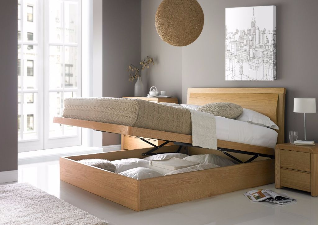 Arran Oak Ottoman Storage Bed in Double and King size --Brand New-- - Arran Oak Ottoman Storage Bed In Double And King Size --Brand New