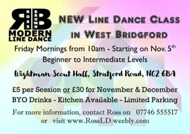 BRAND NEW LINE DANCE CLASS IN WEST BRIDGFORD