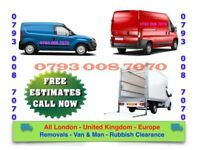 RELIABLE HOUSE REMOVALS- MAN & LUTON VAN- UNWANTED JUNK COLLECTION RUBBISH FURNITURE CLEARANCE WASTE