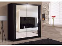High Quality -- Chicago 2 Door Sliding Mirror Wardrobe -- 3 Sizes -- Cheap Price-- Same Day Delivery