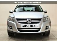 VOLKSWAGEN TIGUAN 2.0 SPORT TSI 5d 200 BHP + TOP SPEC WITH ALL THE EXTRAS (silver) 2009