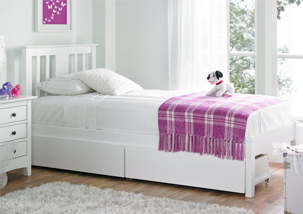 Brand New Childrens Single Bed Frame With Draws In West Cross