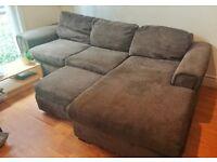 Fantastic Corner Sofa! Great condition, chocolate brown!