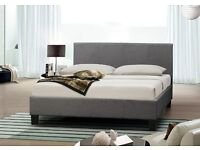 Crushed velvet beds black and silver double bed brand new- Fast Delivery