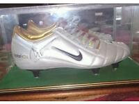 Signed & boxed Wright-phillips boot
