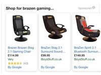 Brazen brand new gaming chair