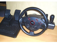 Trust GXT 288 Gaming Steering Racing Wheel & Foot Pedals PC / PS3