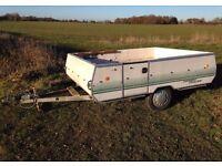 "Large Car Trailer - 8' x 6' Braked, 750kg, motorcycle, camping, motorbike, conway, 13"" wheels"