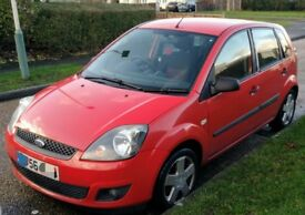 Ford Fiesta Zetec Climate (56 plate, 2006) 1.25 Petrol Red 5 Door Car