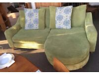 WANTED: DFS Lime Green Fabric Sofa Or Armchair And Foot Stoo!