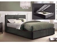 【CHEAPEST PRICE】 NEW DOUBLE LEATHER OTTOMAN STORAGE BED FRAME WITH FULL FOAM MATTRESS £209 CALL NOW
