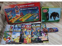 Remote control Spider, Super 6 games pack and Disney Club Penguin comics bundle
