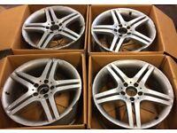 """18"""" Genuine Mercedes CLC Class Silver Alloy Wheels Fits Mercedes A B C E Vito Viano"""