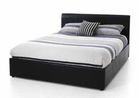BOXING DAY SALE* DOUBLE LEATHER BED + FREE 9 INCH MATTRESS + FREE QUILT £99