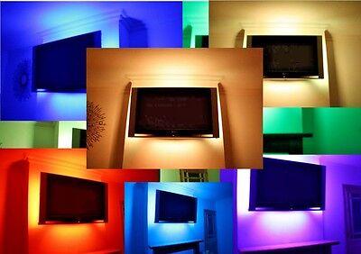 LED TUBES MOOD LIGHTING QUALITY TV BACK LIGHTS COLOUR CHANGING SOUND RESPONSIVE