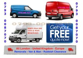 BIG VAN & MAN HOUSE/ OFFICE REMOVAL SERVICE FLAT MOVING STUDENT MOVERS LUTON TAIL LIFT TRUCK HIRE