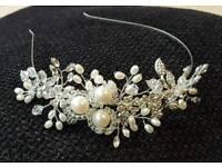 Bridal pearl/ diamonte/ crystal headdress