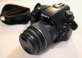 Sony A65 - DSLR Camera - A-Mount Camera with APS-C Sensor (18 - 55 mm Zoom Lens)