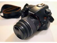 Sony A65 - DSLR Camera - A-Mount Camera with APS-C Sensor (18 - 55 mm Zoom Lens)