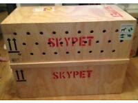 Dog pet IATA airline approved flight transport carrier crate wooden kennel portable travel skypet