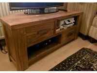 Next Heavy Wood Effect TV Table/stand