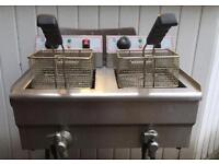 Commercial Table top 2 tank chip fryer