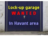 Garage or lock-up store wanted near Havant