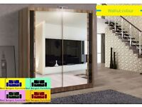 EXCLUSIVE DESIGN CHICAGO 203 CM SLIDING WARDROBE WITH LED LIGHT ALL COLORS AND SIZES AVAILABLE