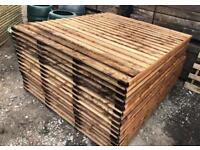 🌻 Various Sizes Of Heavy Duty Brown Tanalised Straight Top Wooden Garden Fence Panels