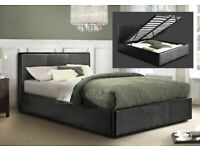 Sale To Clear Us Out-Leather Ottoman Storage Bed Frame in Black Brown and White Color