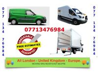 URGENT MAN & LUTON VAN HIRE HOUSE/ OFFICE REMOVALS SERVICE PIANO MOVERS BIKE RECOVERY FLAT MOVING