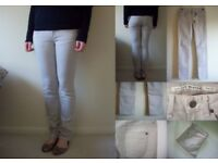 TOPSHOP Light Grey Stone Baxter Skinny Slim Denim Jeans 8 36 NWT £35