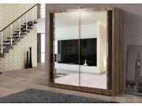 Designer Furniture-BERLIN 2&3 SLIDING DOORS WARDROBE IN 5 SIZES & IN MULTI COLORS-CALL NOW