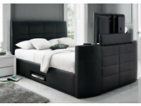 1/ BRAND NEW TV BED WITH GAS LIFT STORAGE Fast DELIVERY 0UEDDCDC