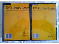 DVD CASES x 10