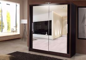 ''High Quality'' 2 Door Mirror Sliding Wardrobe. ''Cheapest Offer''