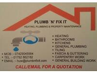 Plumbing heating and property maintenance
