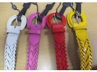 Brand New 200 x ladies brand new fashion belts job lot