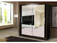 🔵💖🔴CASH ON DELIVERY 🔵💖🔴BRAND NEW BERLIN 2&3 SLIDING DOORS WARDROBE IN 5 DIFF SIZES