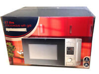 ***New*** Sainsburys Digital Microwave Oven With Grill 800W Stainless Steel 17Litre / 17L