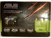 ASUS NVIDIA GeForce GT 710 2 GB Graphics Card VGA/DVI/HDMI