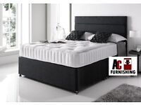 💫💫 BRAND NEW 💫💫 HIGH QUALITY DOUBLE DIVAN BED WITH DEEP QUILT MATTRESS -- SAME DAY FAST DELIVERY