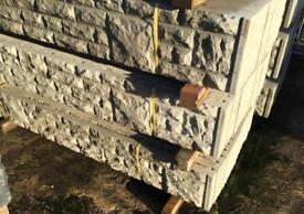 💧Rock Face Concrete Fencing Base Panels