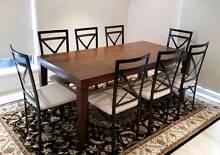 Dining Table and Eight (8) Chairs Manly Brisbane South East Preview
