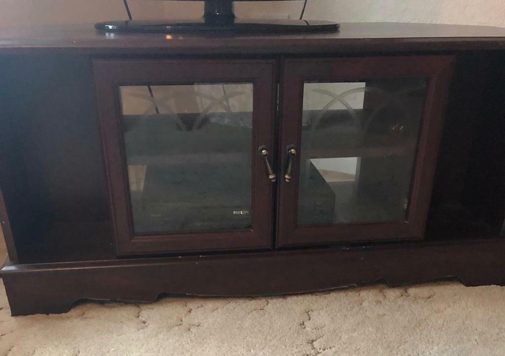 Wood Glass Tv Unit Tv Cabinet Tv Stand In Boston Lincolnshire
