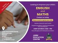 ENGLISH & MATHS REVISION CLASSES